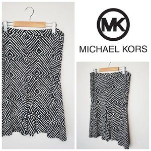 MICHAEL KORS Pull On Printed A-Line Skirt
